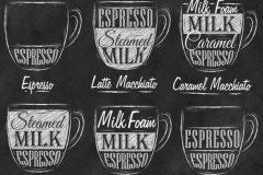 Menú de cafés